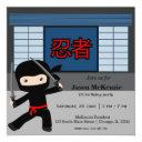 little ninja birthday theme invitation
