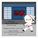 little ninja birthday theme invitation