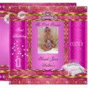 little princess first birthday party photo pink invitations