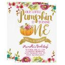 little pumpkin first birthday invitations