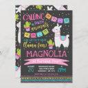 llama birthday invitation whole llama fun party