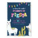 llama fun fiesta alpaca birthday invitations