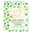 lucky one | st. patrick's day 1st birthday invitation