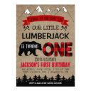 lumberjack boys first birthday invitation