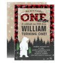 lumberjack winter onederland birthday invitations