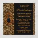 luxurious leopard birthday party invitation