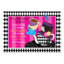 mad hatter tea party birthday invitation-diamond invitation