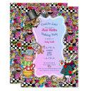 mad hatter tea party invites - birthday alice