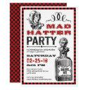 mad hatter unbirthday party invitation