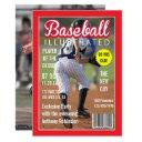 magazine celebrity baseball birthday party photo invitation