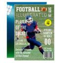magazine cover celebrity footballer birthday party invitation