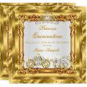 magical quinceanera gold diamond horse carriage invitation