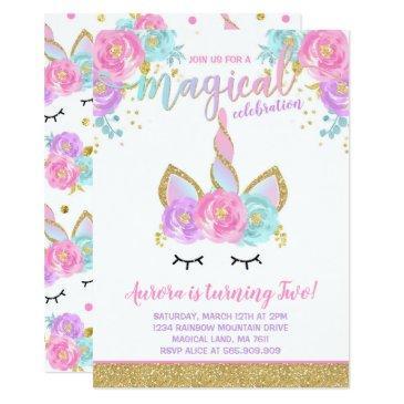 magical unicorn birthday invitations unicorn party