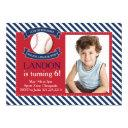 major league fun baseball birthday invitation