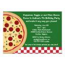 make your own pizza kids birthday party invitations