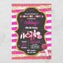 makeup birthday invitation / glamour party