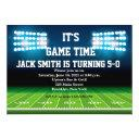 man football custom birthday invitation