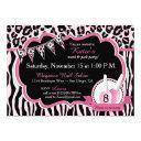 manicure & pedicure spa party birthday invitations