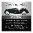 mans antique car birthday party invitation