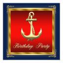 mans nautical birthday party invitation