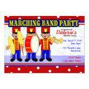 marching band party invitation