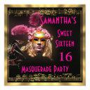 mardi gras masked ball sixteen party invitation