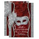 mardi gras masquerade birthday party invitation