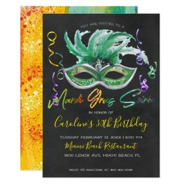 mardi gras soiree | 30th birthday invitations
