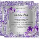 masquerade purple silver snowflakes masks party invitations