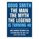 mens 30th/40th/50th/60th birthday party invitation