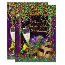 mens mardi gras birthday party invite