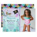 mermaid and pirate birthday invitation