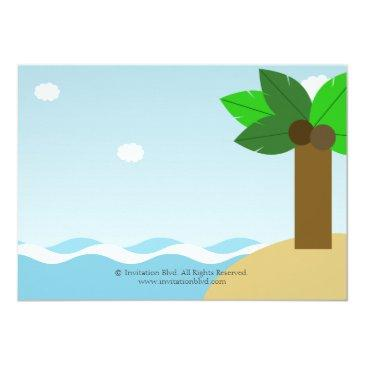 Small Mermaid And Pirate Twins Joint Birthday Party Invitations Back View