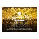 merry go round 25th birthday party invitation