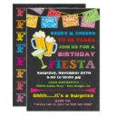 mexican fiesta beers birthday party invitation