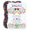 mexican fiesta birthday invitations folk art