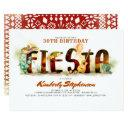mexican fiesta birthday party invitations