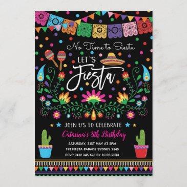 mexican fiesta cinco de mayo birthday party invite