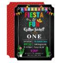 mexican fiesta & fun 1st birthday invitations