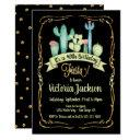 mexican fiesta gold glitter birthday invitation