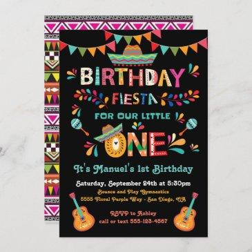 mexican fiesta little one 1st birthday invitation