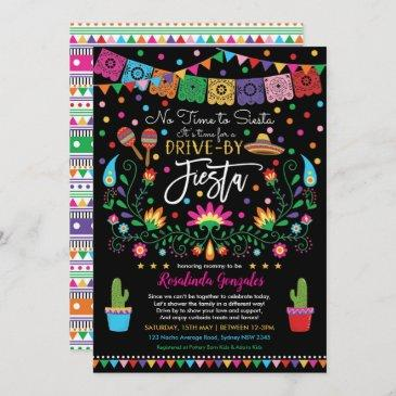 mexican fiesta nacho average drive by baby shower invitation