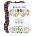 mexican fiesta quinceanera invitations folk art