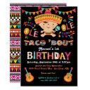 mexican fiesta taco bout 1st birthday invitation
