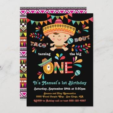 mexican fiesta taco bout one 1st birthday invitation