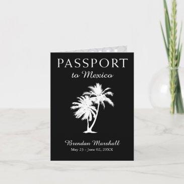 mexico 21st birthday passport invitation