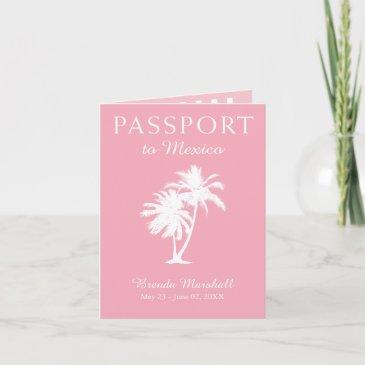mexico 21st birthday pink passport invitation