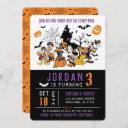 mickey & friends halloween birthday invitation