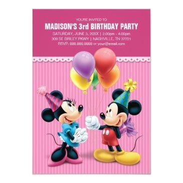 mickey & minnie | birthday invitations