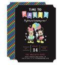 mickey & minnie | time to party invitations